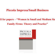 PISB_Special Issue Call for paper Women in Small and Medium Sized Family Firms