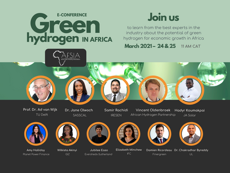Join the green hydrogen in Africa E-conference! Keynote & moderation by AHP