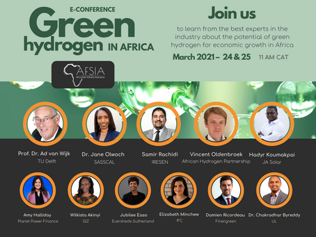 Missed? Check the recordings of Green Hydrogen in Africa by AFSIA