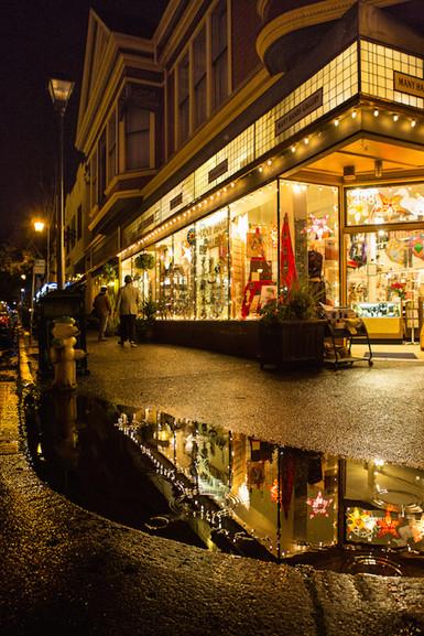 Old Town Eureka at night