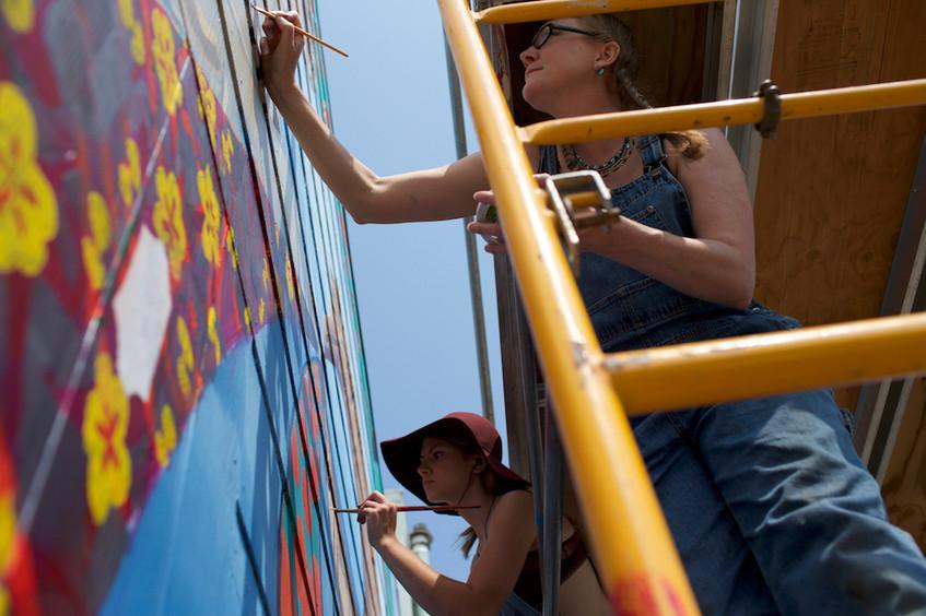 Spin Women's Mural
