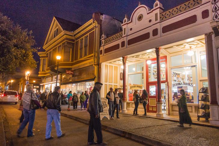 Old Town Eureka during Arts Alive
