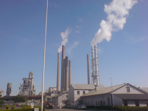 the Aalborg Portland concrete plant in Denmark