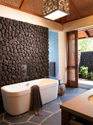 lava pavers install in Hawaii home