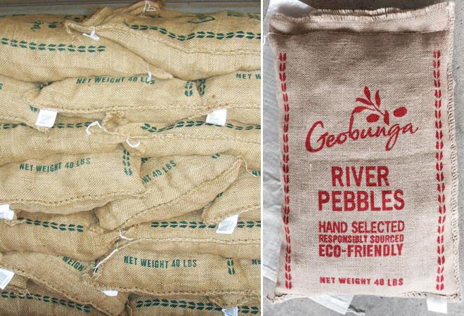 Geobunga burlap pebble bags