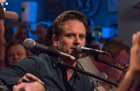 "Charles Esten of ""Nashville"" performs during the ""Bluebird: The Movie"" kickoff event. (Rob Vandisseldorp)"