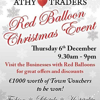 Athy Traders Red Balloon Christmas Event