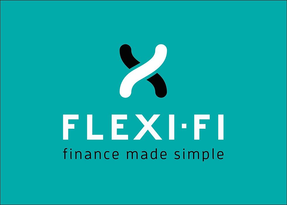 Flexi-Fi Logo portrait for green backgro