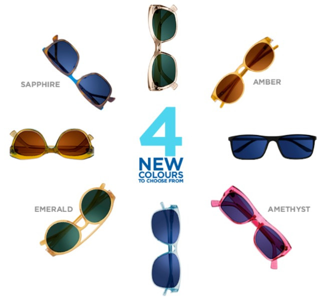 4 New Transition Colours: Amber, Amethyst, Emerald & Sapphire