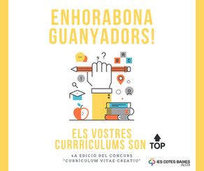 """Guanyadors 4ª edició del concurs """"Currículum Vitae Creatiu"""""""