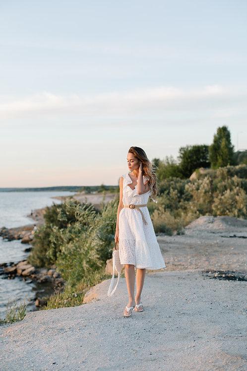 Летнее кружевное платье Леа