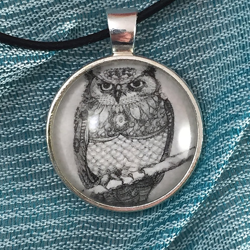 Stink Eye Owl Necklace
