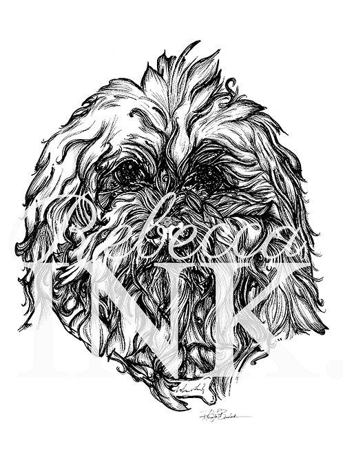 Fluffy Dog Print