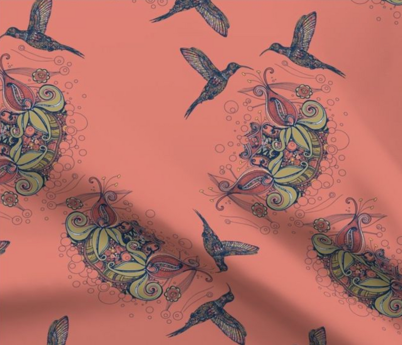 Flight of the Hummingbird Fabric Collection