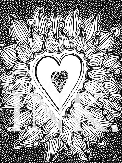 Love Is In the Air Coloring Page Set