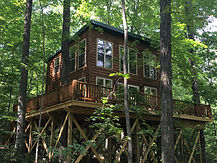 Corban Cabin Getaways has a cozy treehouse for you to rent in Hocking Hills, Ohio!