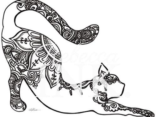 Cute Cat Coloring Page Set