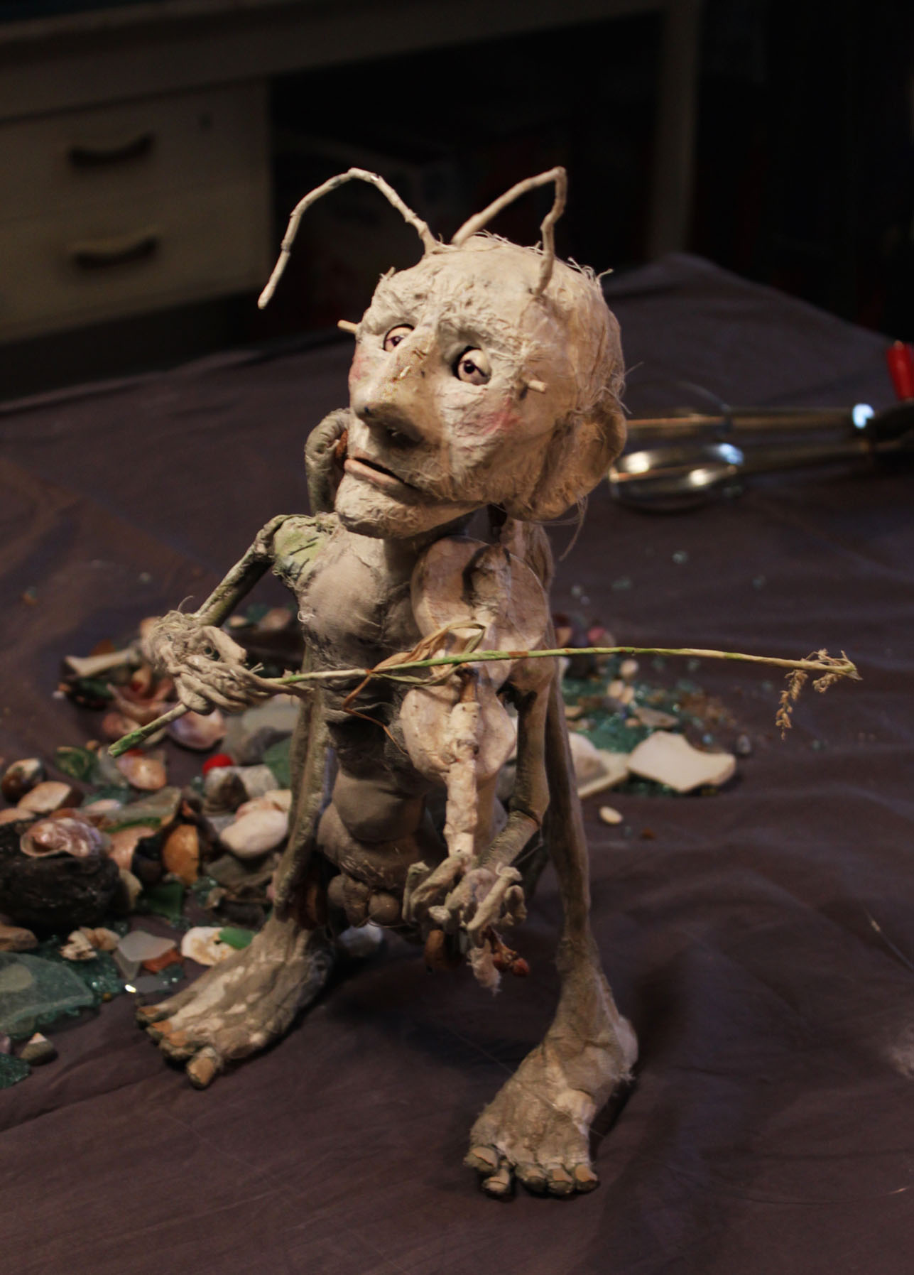 """""""Ezra"""" the cricket, animation-puppet by me"""