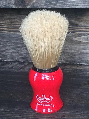 Shave Brush, Omega - Resin Handle