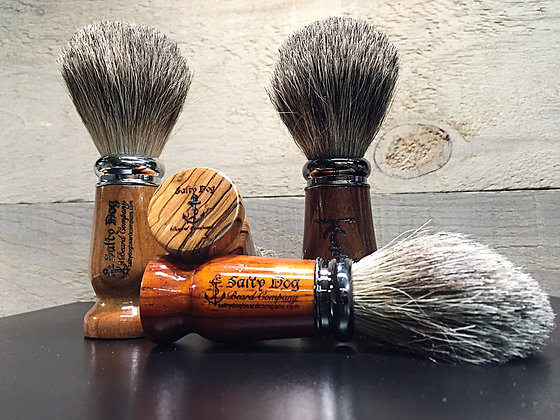 Shave Brush, Wood Handle, 100% Badger Knot
