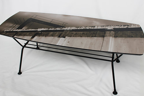 The Wall -- upcycled coffee table