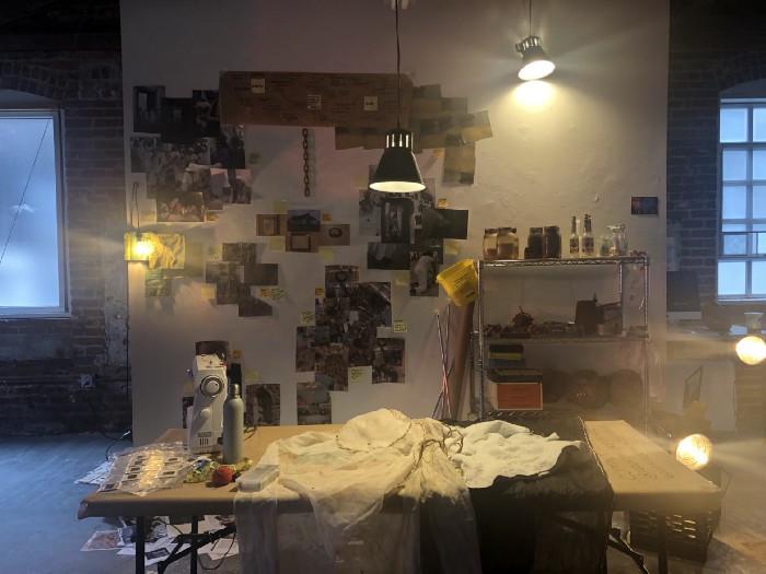 Kelly Taylor Mitchell's artist studio