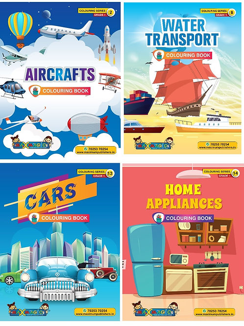 Air crafts ,Water Transport , Cars, Home Appliances (Combo Pack)