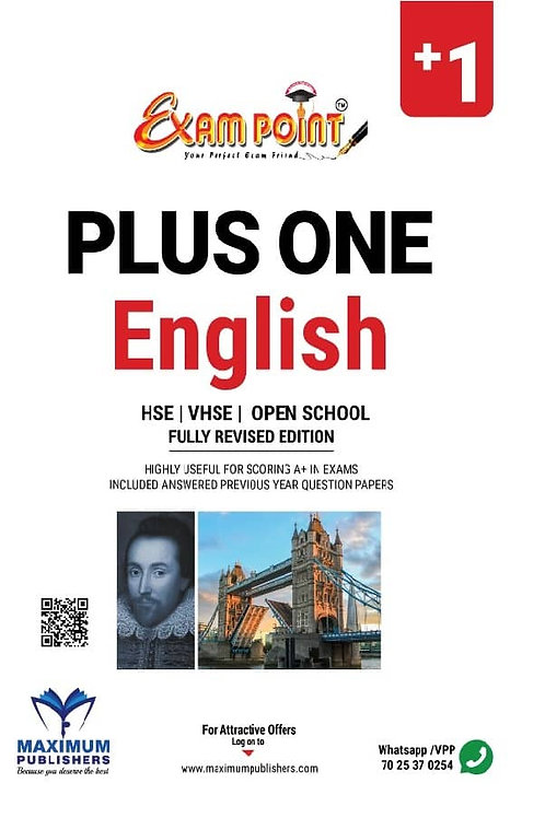 PLUS ONE ENGLISH FOR KERALA SYLLABUS ,HSE ,VHSE,OPEN SCHOOL STUDENTS