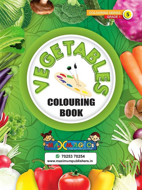 Vegetables  Colouring Book (with description) For PRE-KG, LKG ,UKG Kids
