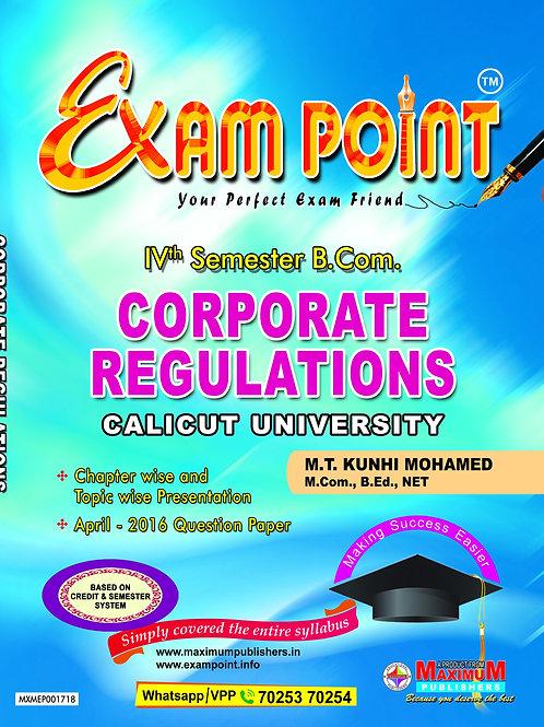Fourth Semester Corporate Regulations For Calicut University B.Com Students