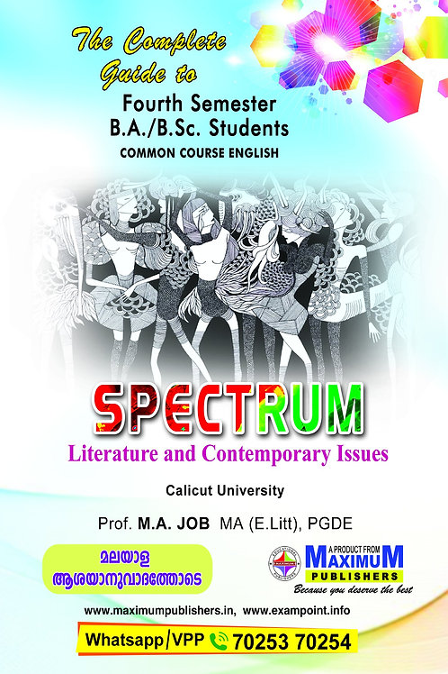 4th Sem SPECTRUM (BA ,BSc Calicut University)