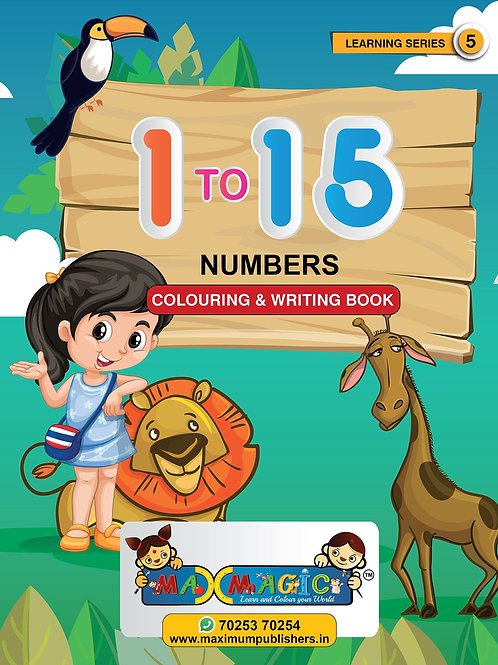 Learning and  1 To 15 Numbers MAX MAGIC Learning Series 5 (Pack of 4)