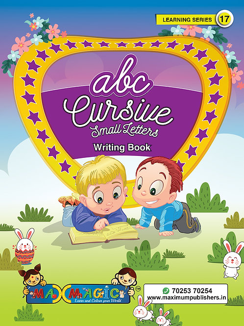 Cursive English Small Letters Writing Book for kids