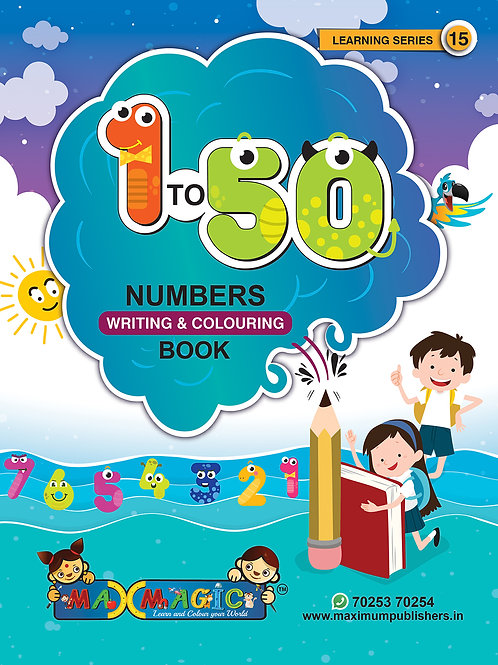 1 to 50 Numbers Writing Book For Kids
