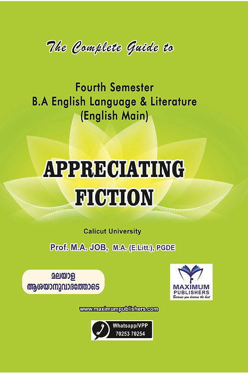 4th Semester APPRECIATING FICTION (Calicut University B.A English Main)