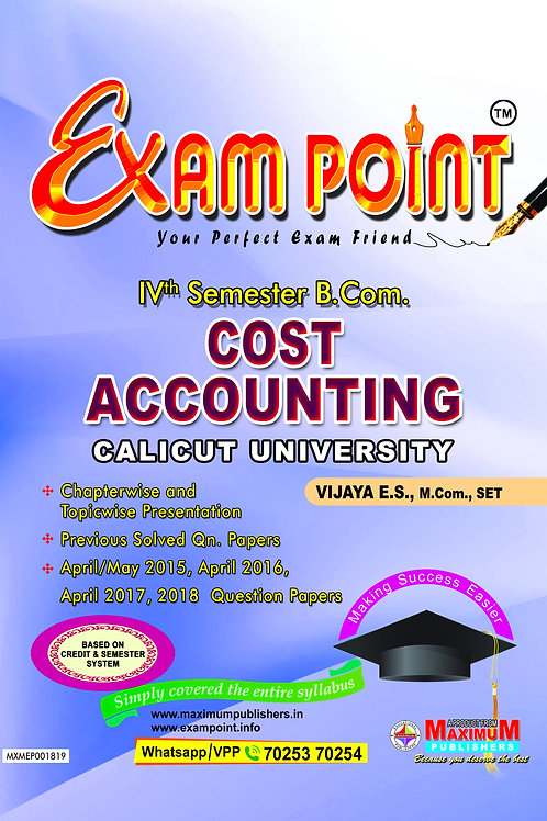 4th Sem COST ACCOUNTING (B.Com Calicut Umiversity)