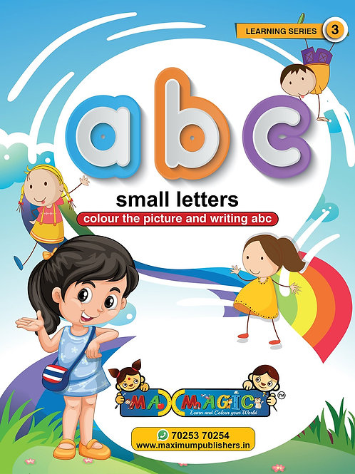 Writing And Colouring Book For Kids A to Z Small Letters  (Pack of 4)