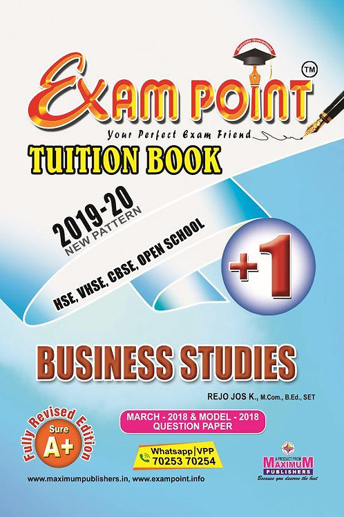 Plus One Business Studies (English) Tuition Book Kerala Syllabus