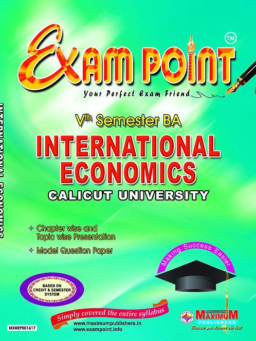 Fifth Semester International Economics For Calicut University BA Students
