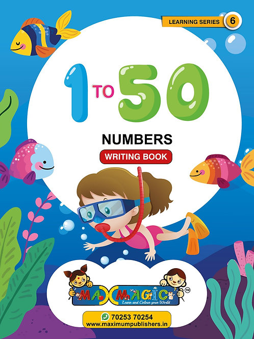 Learning  And  1 to 50 Numbers MAX MAGIC Learning Series 6 (Pack of 4)
