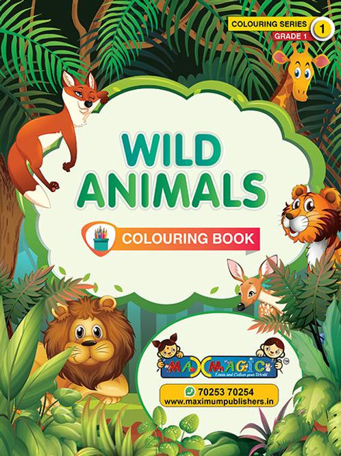 wild Animals Colouring Book For Kids (with description)