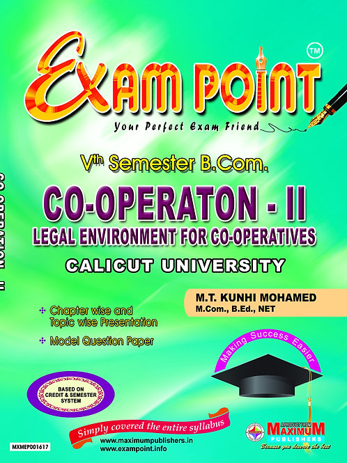 5th Sem CO-OPERATION-II (B.Com Calicut University )