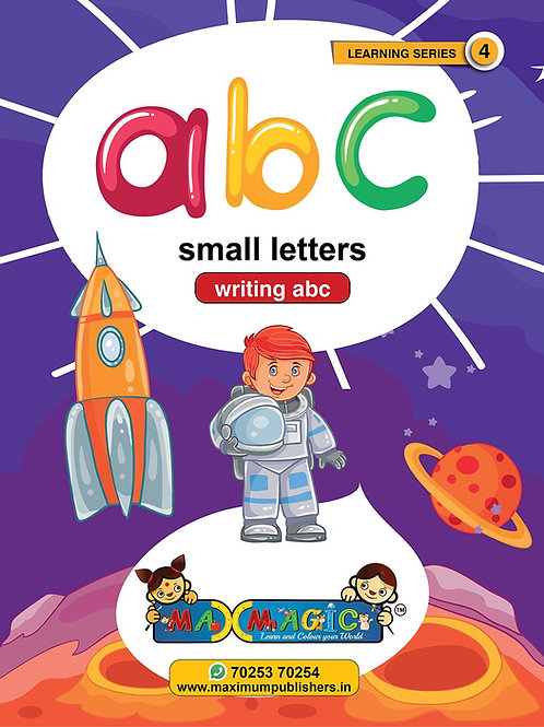 Writing And Learning Book For Kids  A to Z English Small Letters