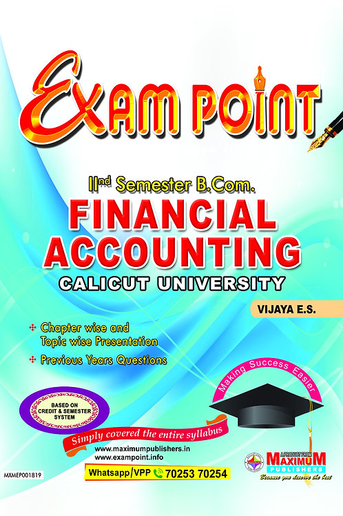Second Semester Financial Accounting for Calicut University B.Com Students