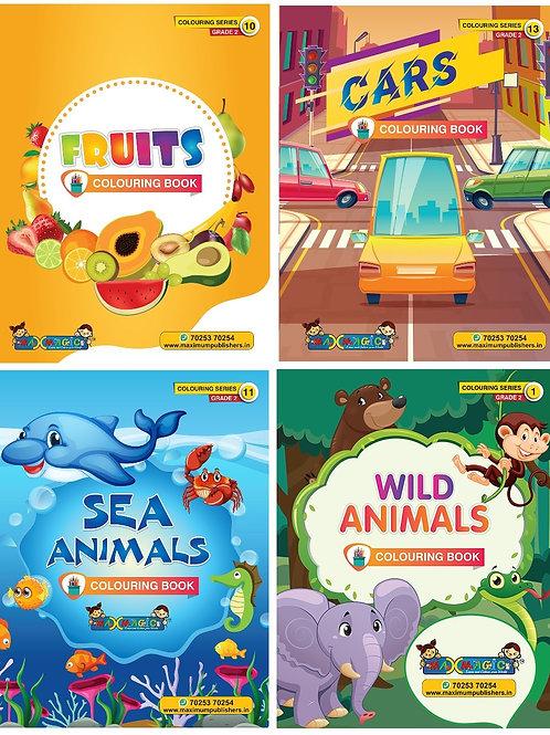 Fruits ,Cars,Sea Animals & Wild Animals (Combo Pack)