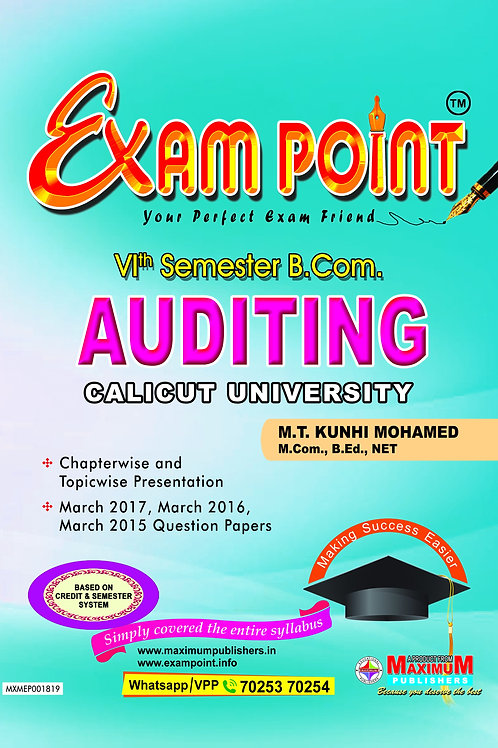 Sixth Semester Auditing For calicut University B.Com Students