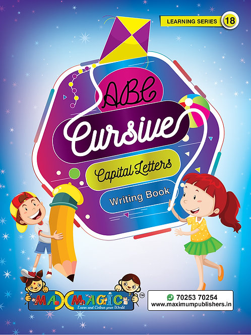 Cursive English Capital Letters Writing Book for kids