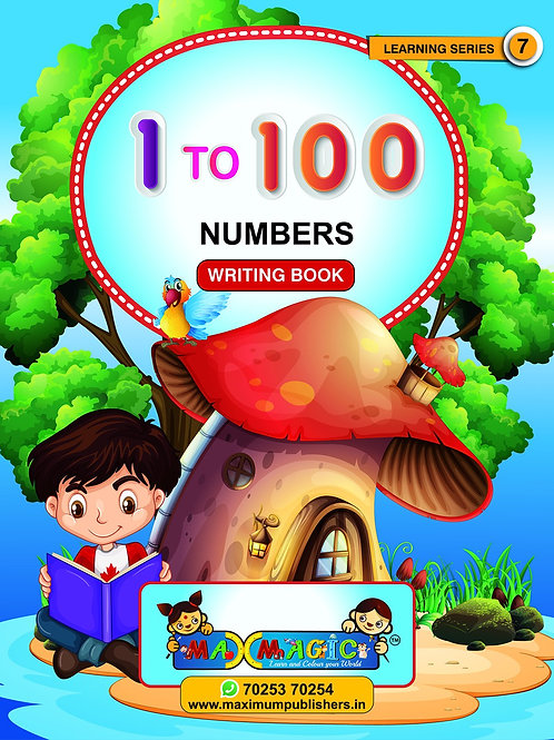 Learning And  1-100 Numbers MAX MAGIC Learning Series 7 (Pack of 2)