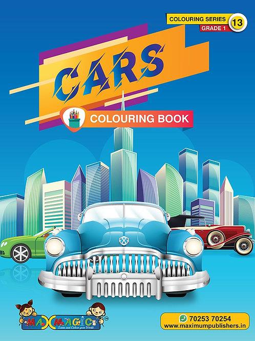 Cars Colouring Book (with description) For PRE-KG, LKG ,UKG Kids