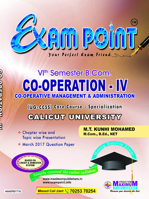 6th Sem CO-OPERATION - IV (B.Com Calicut University)